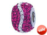 Zable™ Sterling Silver Pink and White Wave Bead / Charm style: BZ1164