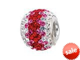 Zable™ Sterling Silver Red Wave Pandora Compatible Bead / Charm