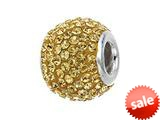 Zable™ Sterling Silver Gold Color Crystals Pandora Compatible Bead / Charm style: BZ1227