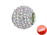 Zable™ Sterling Silver Pave Crystal Ball Pandora Compatible Bead / Charm style: BZ1272