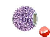 Zable™ Sterling Silver Violet Crystals Pandora Compatible Bead / Charm style: BZ1273