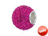 Zable™ Sterling Silver Fuschia Crystals Pandora Compatible Bead / Charm