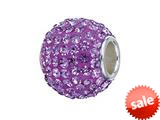 Zable™ Sterling Silver Tanzanite Crystals Pandora Compatible Bead / Charm