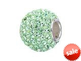 Zable™ Sterling Silver Seafoam Crystals Pandora Compatible Bead / Charm style: BZ1276