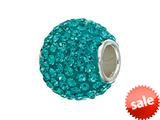 Zable™ Sterling Silver Teal Crystals Pandora Compatible Bead / Charm
