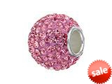 Zable™ Sterling Silver Light Rose Crystals Pandora Compatible Bead / Charm