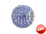 Zable™ Sterling Silver Pave Crystal Birthstone - March Pandora Compatible Bead / Charm