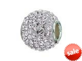 Zable™ Sterling Silver Pave Crystal Birthstone - April Pandora Compatible Bead / Charm style: BZ1284