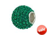 Zable™ Sterling Silver Pave Crystal Birthstone - May Pandora Compatible Bead / Charm style: BZ1285