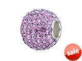 Zable™ Sterling Silver Pave Crystal Birthstone - June Pandora Compatible Bead / Charm style: BZ1286