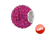 Zable™ Sterling Silver Pave Crystal Birthstone - October Pandora Compatible Bead / Charm
