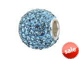 Zable™ Sterling Silver Pave Crystal Birthstone - December Pandora Compatible Bead / Charm