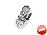 Zable™ Sterling Silver Baby Shoe Bead / Charm