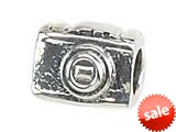 Zable™ Sterling Silver 35Mm Camera Bead / Charm style: BZ1403