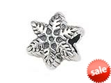 Zable™ Sterling Silver Snowflake Pandora Compatible Bead / Charm style: BZ1407
