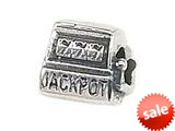 "Zable™ Sterling Silver Slot Machine ""Jackpot"" Pandora Compatible Bead / Charm"