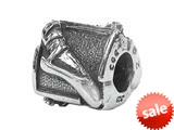 Zable™ Sterling Silver Ballet Slipper Bead / Charm style: BZ1422