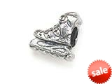 Zable™ Sterling Silver Roller Blade Bead / Charm style: BZ1435