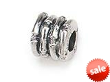 Zable™ Sterling Silver Bamboo Spacer Bead / Charm