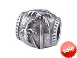 Zable™ Sterling Silver Palm Tree Pandora Compatible Bead / Charm style: BZ1448