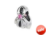 Zable™ Sterling Silver Ribbon Breast Cancer Bead / Charm