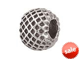 Zable™ Sterling Silver Spacer Honeycomb Bead / Charm