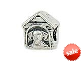 Zable™ Sterling Silver Dog House Bead / Charm