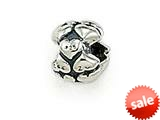 Zable™ Sterling Silver Heart Nugget Spacer Bead / Charm style: BZ1492