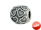 Zable™ Sterling Silver Floating Hearts Bead / Charm style: BZ1494
