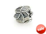 Zable™ Sterling Silver Plumeria Bead / Charm style: BZ1495