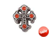 Zable™ Sterling Silver Cross withCrystals Pandora Compatible Bead / Charm style: BZ1497