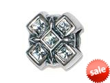 Zable™ Sterling Silver X with Crystals Bead / Charm style: BZ1498