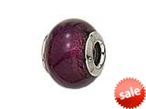 Zable™ Sterling Silver Murano Glass Birthstone- Bead / Charm