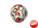 Zable™ Sterling Silver Slver with Multicolor Dot Murano Glass Bead / Charm style: BZ1558