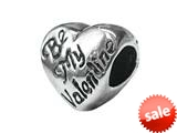 Zable™ Sterling Silver Be My Valentine Pandora Compatible Bead / Charm style: BZ1700