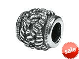 Zable™ Sterling Silver Braided Rope Spacer Bead / Charm