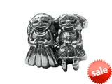 Zable™ Sterling Silver Girl-Girl Bead / Charm