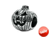 Zable™ Sterling Silver Halloween Pumpkin Bead / Charm