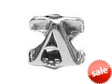 "Zable™ Sterling Silver Open Initial ""A"" Bead / Charm style: BZ1801"