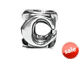 "Zable™ Sterling Silver Open Initial ""C"" Bead / Charm"