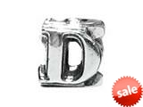 "Zable™ Sterling Silver Open Initial ""D"" Bead / Charm"