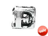 "Zable™ Sterling Silver Open Initial ""E"" Bead / Charm style: BZ1805"