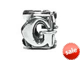 """Zable™ Sterling Silver Open Initial """"G"""" Pandora Compatible Bead / Charm style: BZ1807"""