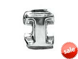 "Zable™ Sterling Silver Open Initial ""I"" Bead / Charm"