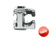 "Zable™ Sterling Silver Open Initial ""L"" Pandora Compatible Bead / Charm style: BZ1812"