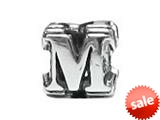 "Zable™ Sterling Silver Open Initial ""M"" Bead / Charm"