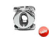 "Zable™ Sterling Silver Open Initial ""O"" Pandora Compatible Bead / Charm style: BZ1815"