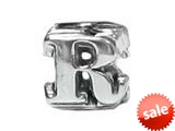 "Zable™ Sterling Silver Open Initial ""R"" Bead / Charm style: BZ1818"