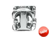 "Zable™ Sterling Silver Open Initial ""T"" Bead / Charm"