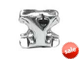 "Zable™ Sterling Silver Open Initial ""Y"" Bead / Charm"